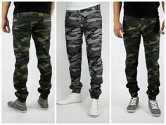 Jogger Denim pants for men Made in USA of highest quality. Army Camo style  #joggers #joggerdenimpants