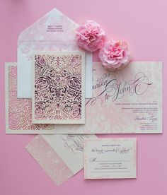 Hot Trends: Fall in Love with These Super Unique Laser Cut Wedding Invitations.