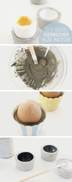 DIY-Anleitung: Eierbecher aus Beton herstellen / diy tutorial: egg holder made of concrete via DaWanda.com
