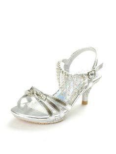 Silver Dazzling Rhinestones Girls Sandals (Sizes 9 - Youth 4)