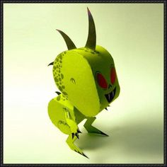 Halloween - Chupacabra Free Paper Toy Download - http://www.papercraftsquare.com/halloween-chupacabra-free-paper-toy-download.html