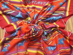 Sequences large 140cm cashmere/silk shawl  :-)