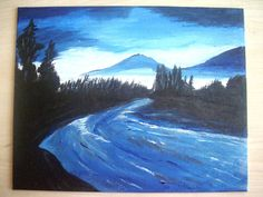 Night of Wilderness Acrylic Painting by DDistinguishedGifts, $18.00
