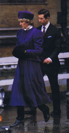 """Diana,1985 on Christmas Day, when she and Charles joined the rest of the royal family attending """"morning service"""" at St. George's Chapel, at Windsor."""
