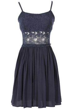 Peace and Love Crochet Floral Lace Dress