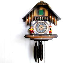 Vintage Cuckoo Clock / Chalet Style Wooden by CreekLifeTreasures