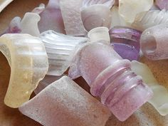 Sea Glass Mosaic, Sea Glass Beach, Lilac Room, Sea Glass Crafts, Mermaid Coloring, Beach Crafts, Glass Garden, Glass Ball, Sea Glass Jewelry