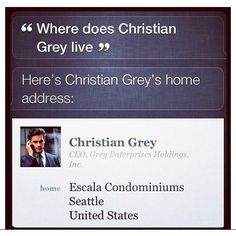 Even SIRI knows who should play Christian Grey! Haha Love! #fiftyshades  #mattbomer #christiangrey