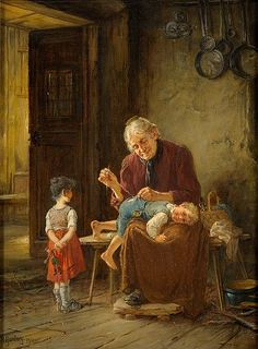 """Grandma is the Best"" by Adolf Humborg"