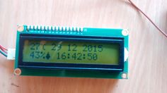 Make a LCD clock that displays Temperature and Humidity using an Arduino microcontroller