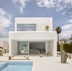 Carles Faus Arquitectura Build Spanish Carmen House, Inspired by Ibizan Architecture - Lanzi - Architektur Cabinet D Architecture, Interior Architecture, Contemporary Architecture, White House Architecture, Contemporary Design, Home Architecture Styles, Minimalist Architecture, Futuristic Architecture, Amazing Architecture