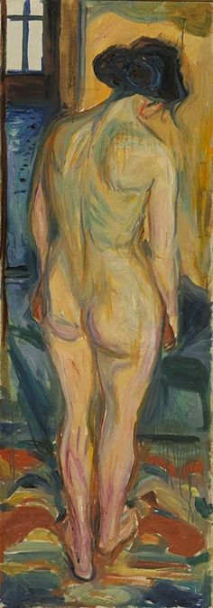 1922-23 Standing Nude oil on canvas 175 x 62 cm Munch Museum, Oslo