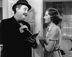 Check out this image from TCM.   Medium shot of Billy Gilbert as Mr. Donovan, wearing hat, standing in doorway with Barbara Stanwyck as Carolyn Martin.