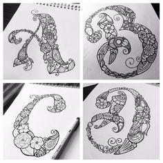 Items similar to Creative Spark Coloring Book - Letter Doodles - Book Only on Etsy Doodle Alphabet, Doodle Art Letters, Doodle Books, Book Letters, Letter Art, Hand Lettering Alphabet, Doodle Lettering, Doodle Art Designs, Doodle Patterns