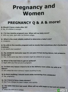 Pregnancy Q & A: My favorite is the 5th one down.