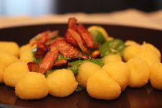 La cocina del día de mañana: Gnocchi con salsa de espinacas y roquefort