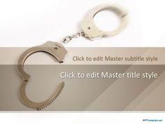 Free Prison Handcuffs PPT Template