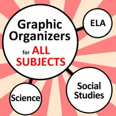 """Graphic organizers: This package contains more than 35 generic graphic organizers that can be used for any subject, including K-12 English (ELA), history, math, science, social studies, and even foreign language topics in Spanish, French and German.  It also includes my popular Create Your Own iPhone templates, """"Fakebook"""" profile, """"Tweeter"""" Feed and """"Pinnable"""" board."""