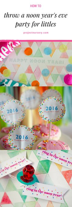 Celebrate New Year's Early with  Noon Year's Eve Party for Littles
