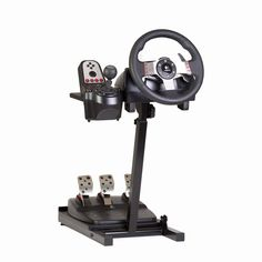 ?Improve your game - Our affordable wheel stand fits most Logitech, Macatz, Thrustmaster, and Fanatec steering wheels. Use with Xbox One, PS4, and PC driving games.  The Wheel Stand Features??  Height Adjustable? Tilt Adjustable Angle Adjustabl...