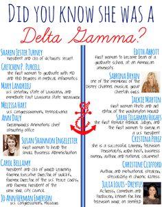 Delta Gamma famous women! #deltagamma #deegee #dg