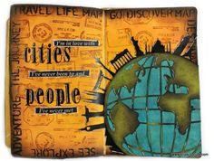 Travel Themed Art Journaling Tutorial with Vicky Papaioannou!