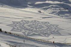star snow art design