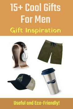 Need gift inspiration for the man in your life? How about 15+ cool gifts for men that they will actually like? From trucker hats to stainless steel coffee cups to real wood headphone stands to organic cotton board shorts, every item is useful and eco-friendly. Click now to get inspired by the Earth Hero catalogue. #EcoTourLinQ #giftinspiration #giftideas #giftsformen #giftsforhim #coolgiftideas #giftsfordad #giftsforboyfriend #ecofriendlygifts #affiliate