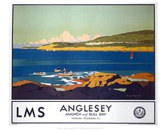 LMS Anglesey on VintageRailPosters.co.uk Prints