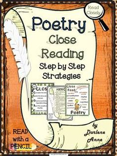 Poetry: Close Reading Step by Step Strategies is chock full of resources to give your students the confidence and knowledge they need to tackle close reading of poetry.