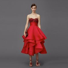 Find More Evening Dresses Information about Fashion Red Beads Evening Dresses Ruffles Luxury Beads Tea Length Evening Gowns Sweetheart Off The Shoulder Formal Dress E175,High Quality dress manual,China dress shirt neck fit Suppliers, Cheap dress pearl from Amazing Life Amazing Wedding on Aliexpress.com