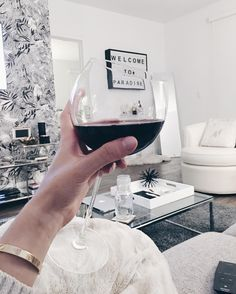 Paradise is quite literally in a glass of red wine