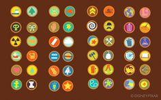 UP - Russel's Boy scout badges design