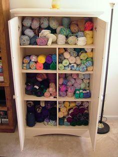 yarn cabinet | yarn storage | pinterest | gets, yarns and cabinets