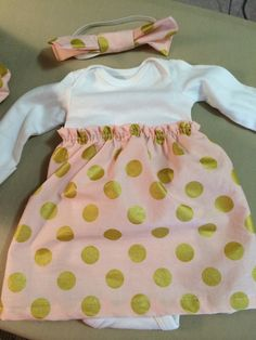 Baby girl take home outfit newborn onesie dress by DwellDarling, $29.00