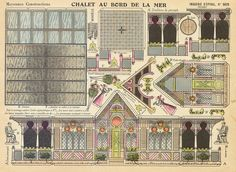 d'Epinal paper toy sheet No. 909 Chalet Au Bord De La Mer found on flickr at https://www.flickr.com/photos/taffeta/5783921143/in/set-72157626790129899
