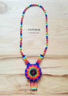 Huichol Beaded Necklaces Art Mexican Style by RomeaAccessories