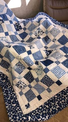 Ideen Patchwork Quilt blau Spaß für 2019 , Best Picture For patchwork quilting ideas For Your Taste You are looking for something, and it is going to tell you Big Block Quilts, Boy Quilts, Scrappy Quilts, Quilt Blocks, Star Quilts, Colchas Quilting, Machine Quilting, Quilting Ideas, Quilting Projects