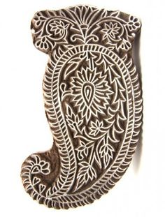 The art dept could create one or two of these for silk screen printing - Indian Wooden Block Stamp Paisley Design, Paisley Pattern, Pattern Art, Textiles, Textile Prints, Paint Designs, Henna Designs, Silk Screen Printing, Printing On Fabric