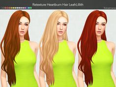 LeahLillith Heartburn   Hair ClayifiedMesh by @leahlillith. Thank you so much!Standalone Custom Thumbnail16 EA ColorsREQUIRES  MESH BY   LEAHLILLITH!→ DOWNLOAD MESHDOWNLOAD HERE