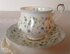 "Royal Albert China Tea Cup & Saucer ""Caroline"" Pattern"