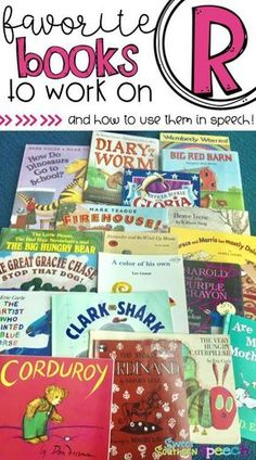 A great collection of books to use when targeting R in speech therapy. I love these for articulation.