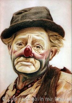 Clown  gepind van Sam Williams