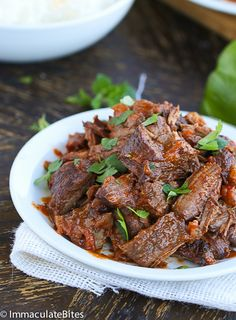 Ropa Vieja Slow Cooker- A Cuban favorite shredded beef that you can easily make right at home – And it tastes even better!