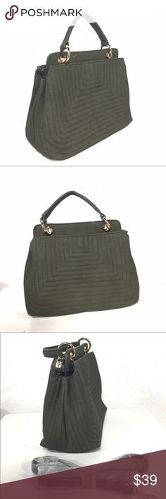 Olive Green Handbag Purse 👜 Classy handbag that also has long strap to make into cross body. 7x9x4 J Bags