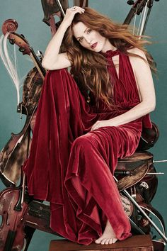 Julianne Moore in the December 2015/January 2016 issue of Town & Country magazine photographed by Victor Demarchelier.
