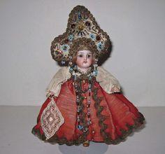 """6 1/2"""" Антикварні камери &амп; Рейнхардт Уокер оригінальний рідкісний костюм, прикрашений дорогоцінним камінням Очіпок!   Ляльки & ведмеді, ляльки, античний (до 1930 року)   на eBay!"""