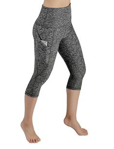 ODODOS High Waist Out Pocket Yoga Pants Tummy Control Workout Running