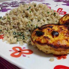 Saudável como um pêro... sem desespero!: Muffins de batata-doce, frango e ervas de provence...