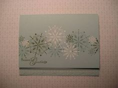 Snow Swirled Flakes by maryetim - Cards and Paper Crafts at Splitcoaststampers